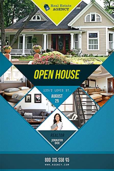 Open House Free PSD Flyer Template