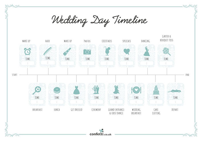 organising-planning-wedding-day-timeline