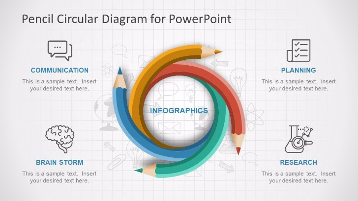 25 free project roadmap powerpoint templates mashtrelo pencil circular powerpoint diagram ccuart Image collections