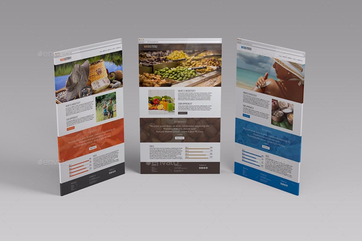 Perspective Website Screen MockUp V01