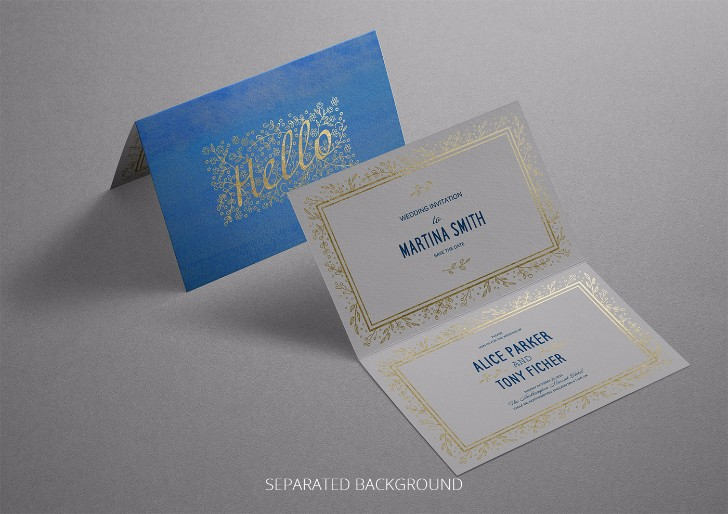 Photorealistic Invitation Greeting Card Mockup