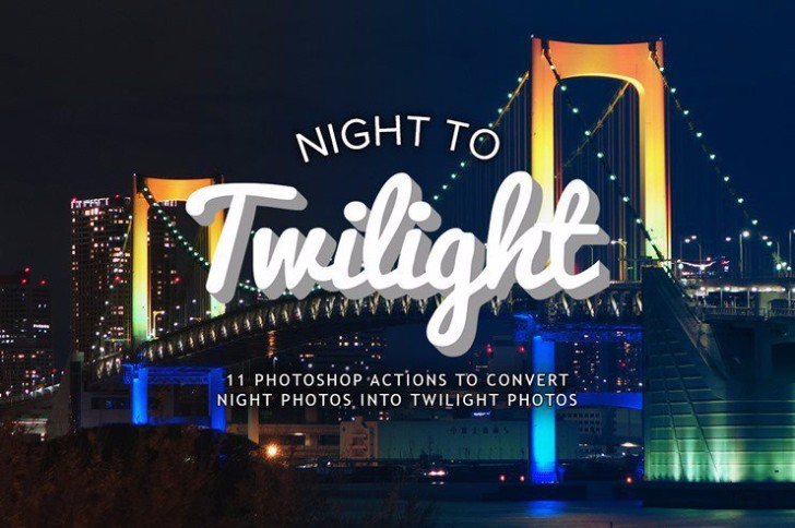 Photoshop Actions to Turn Night Photos into Twilight Photos