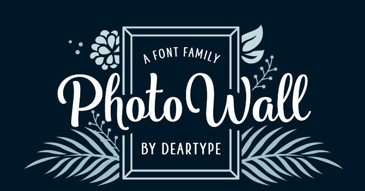 PhotoWall Font Family Weight