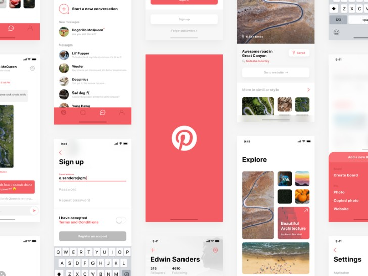 Pinterest iPhone X Concept Sketch Resource