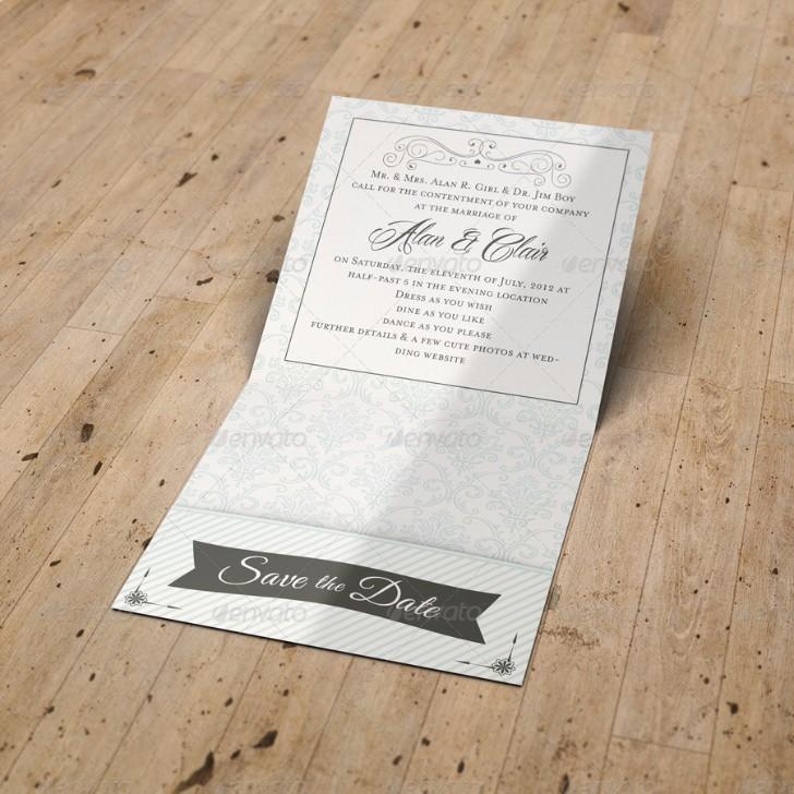 Pocket Wedding Invitation Mockup