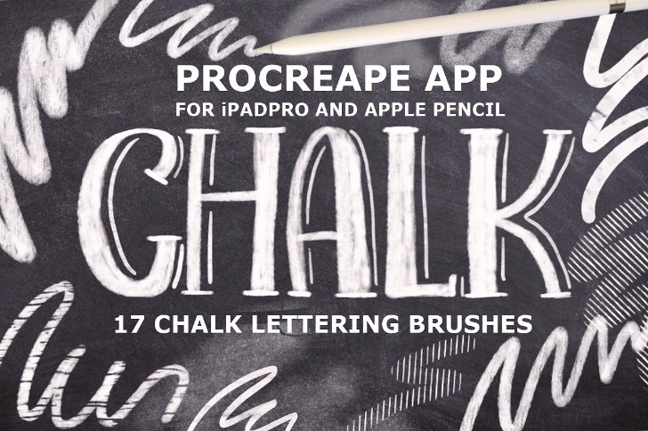 Procreate 3 Chalk Lettering Brushes
