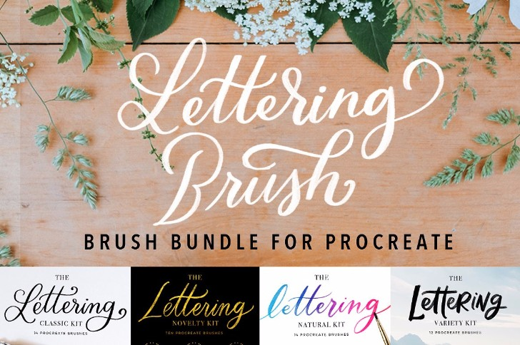 Procreate Brushes Bundle Lettering