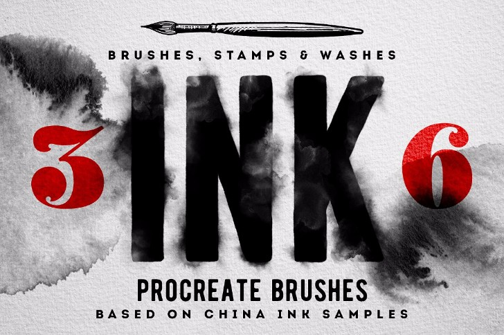 Procreate Ink brushes set of 36