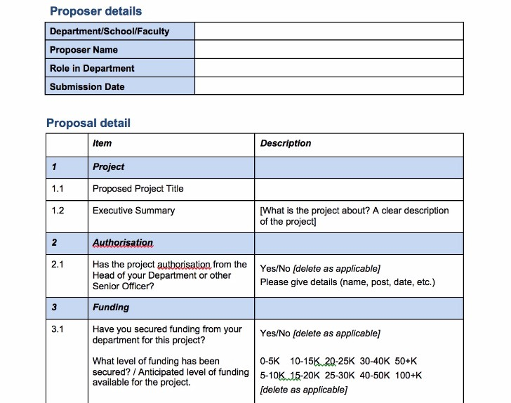 Free Project Proposal Templates For Any Projects