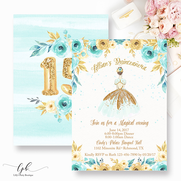 quinceanera-invitation-mint