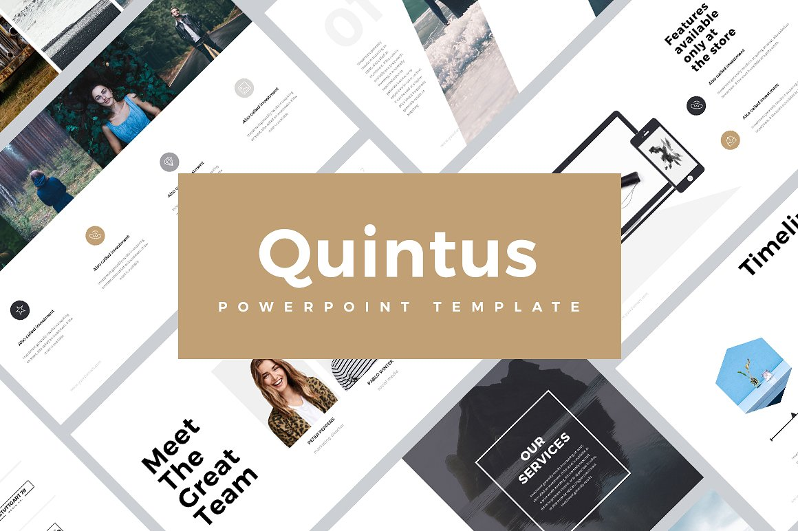 Quintus Best Minimal Powerpoint PPT Template