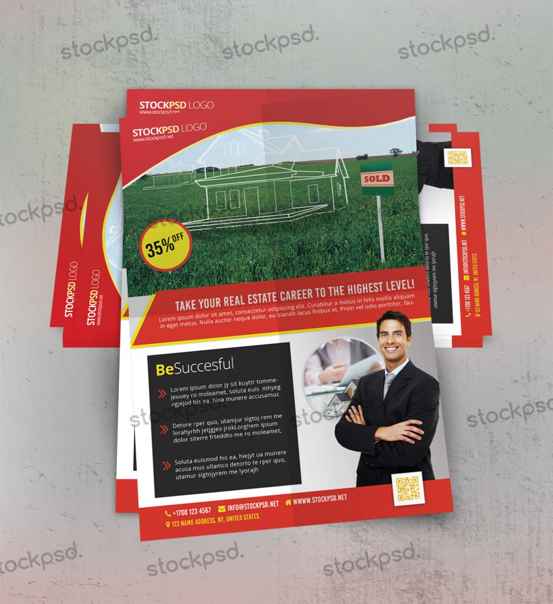 Real Estate Free PSD Flyer