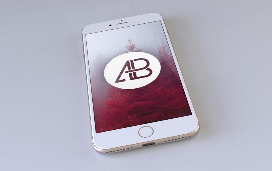 Realistic Gold iPhone 7 Plus Mockup Vol2