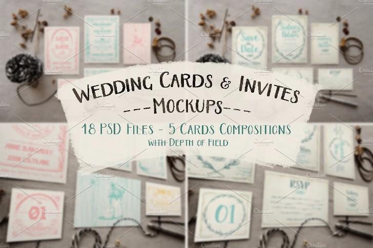 Rustic Wedding Invitation Mockup