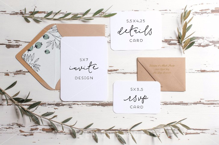 Rustic Wedding Suite Mockup Olive 1