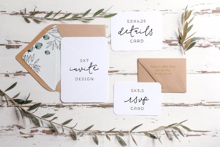 35 Greeting Card Invitation Mockup Psd Templates 2017
