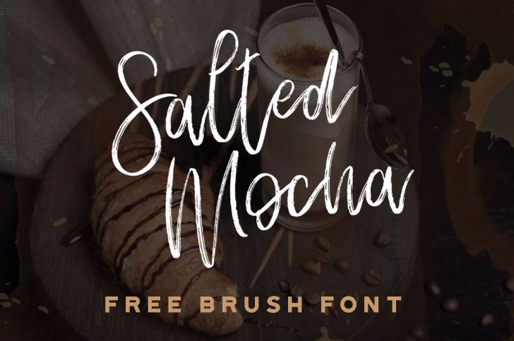 SALTED MOCHA BRUSH FONT