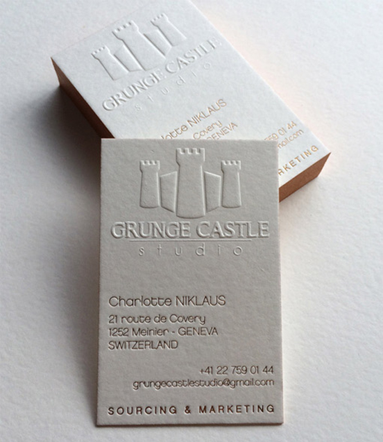 Sculptural Embossing Business Card