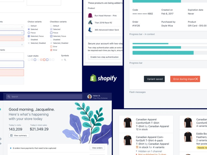 Shopify Polaris UI Kit Sketch Resource