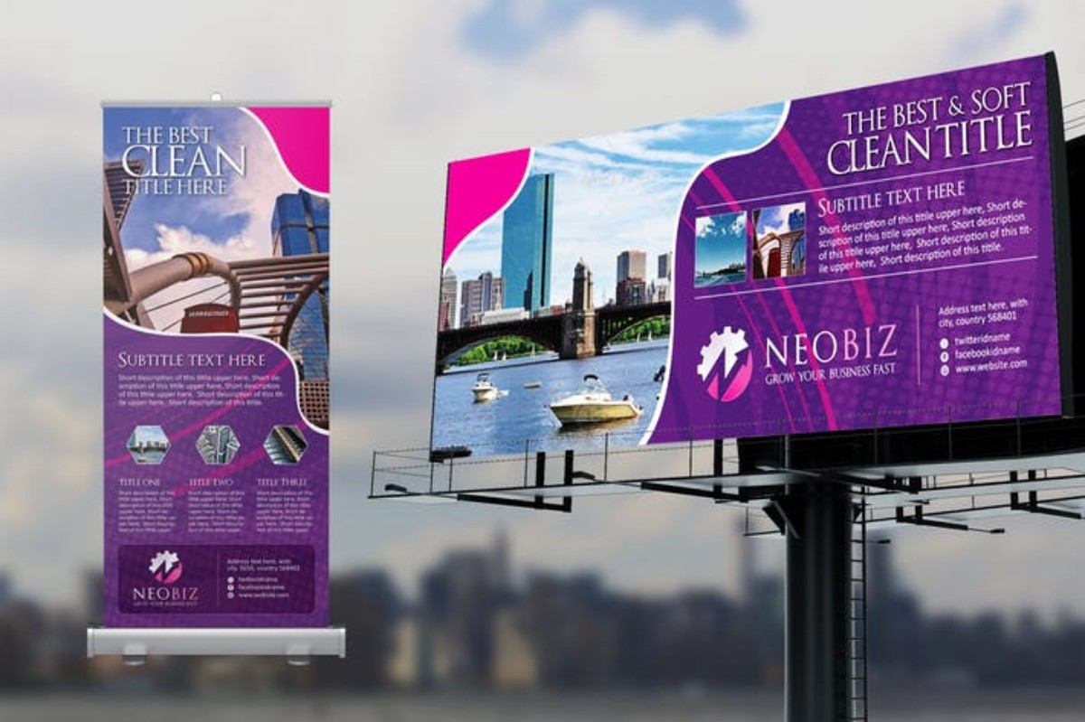 Signage Pack Rollup Billboard