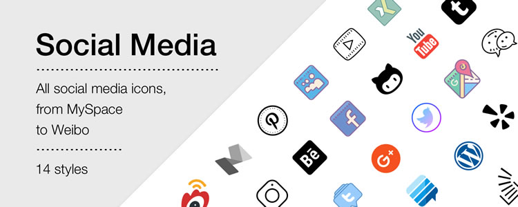 Social Media Icons by Icons8