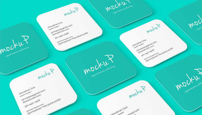 25 square business card mockup templates mashtrelo square business card mockups reheart Gallery
