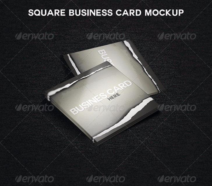 Square Business Card MockUp ready