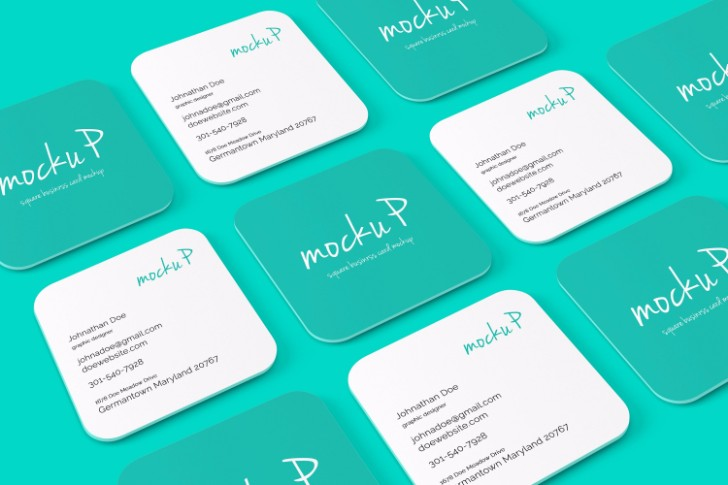 Square Business Card Rounded Cor