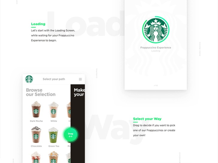 Starbucks Sketch iOS app design concept