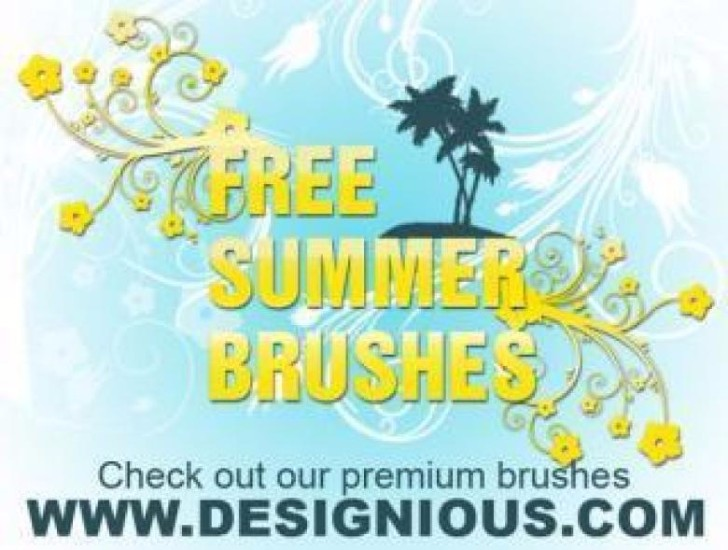 Summer Photoshop Brushes Free Stock Photo
