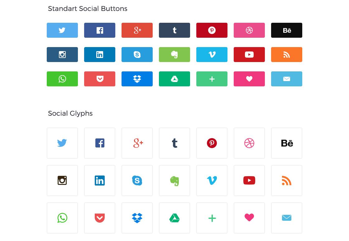 True Social Buttons