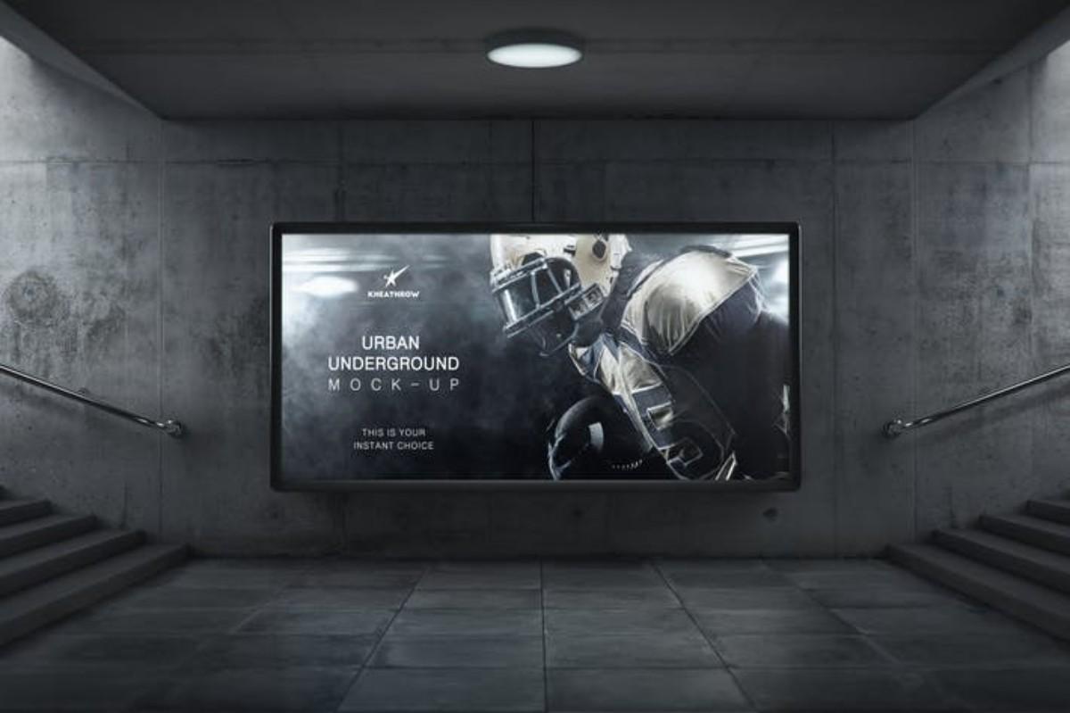 Urban Underground Lightbox Billboard MockUps