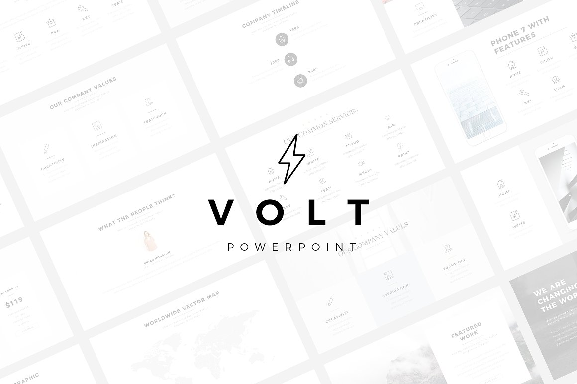 Volt Minimal PowerPoint Template