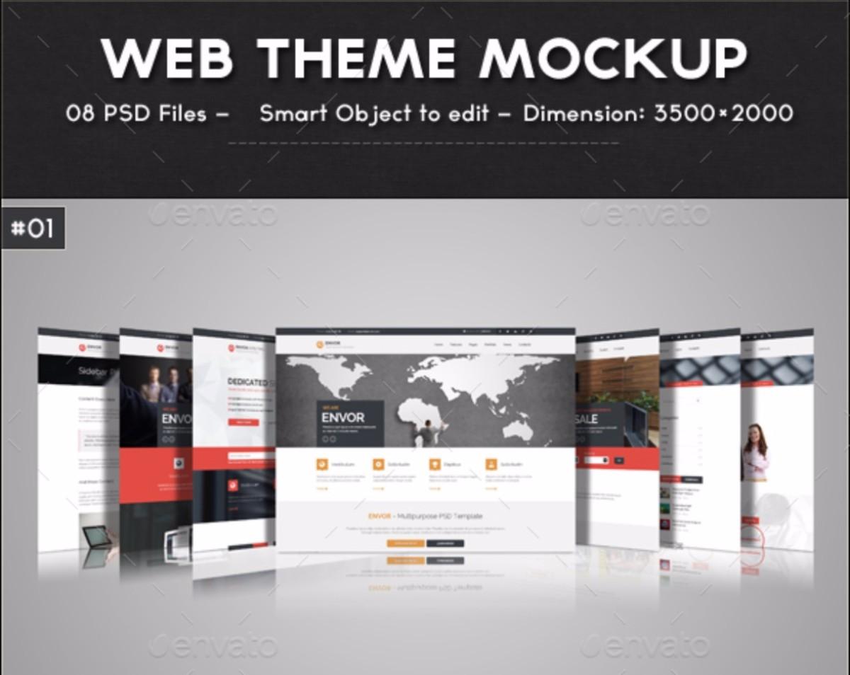 Web Theme Mockup