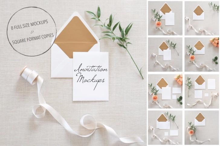 35 greeting card invitation mockup psd templates 2017 wedding invitation mockups psd stopboris Images
