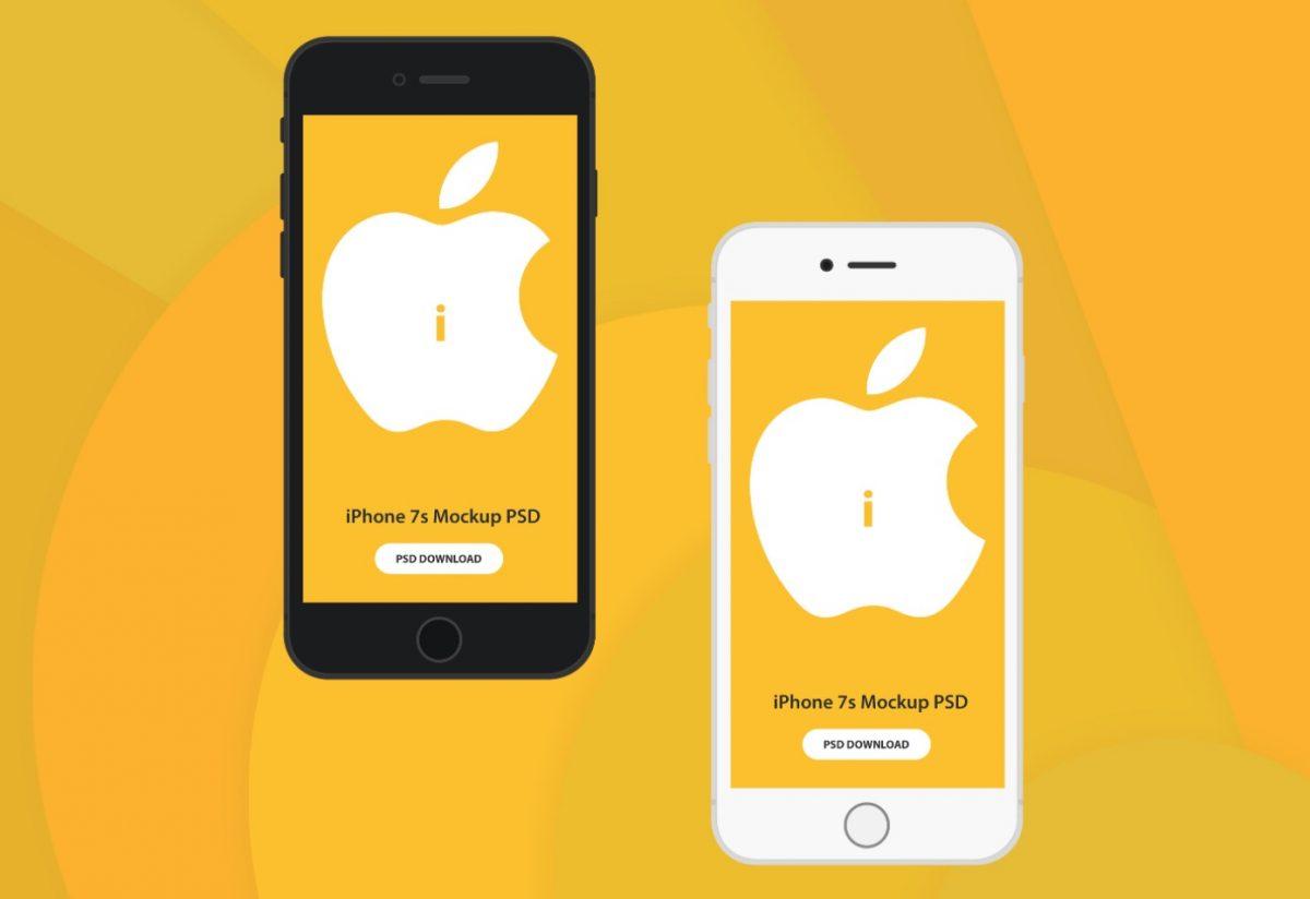 white iPhone 7s free mockup