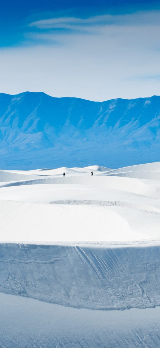 White Sands Snow Wallpaper