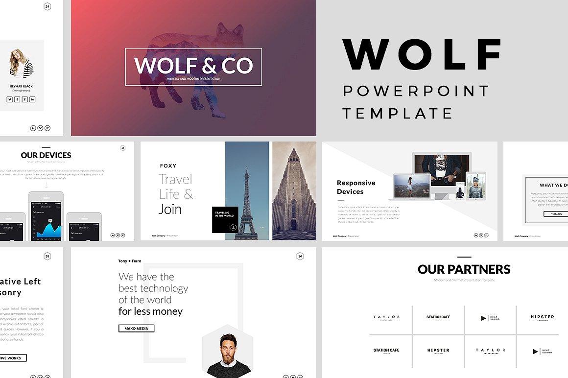 Wolf Minimal PowerPoint Template