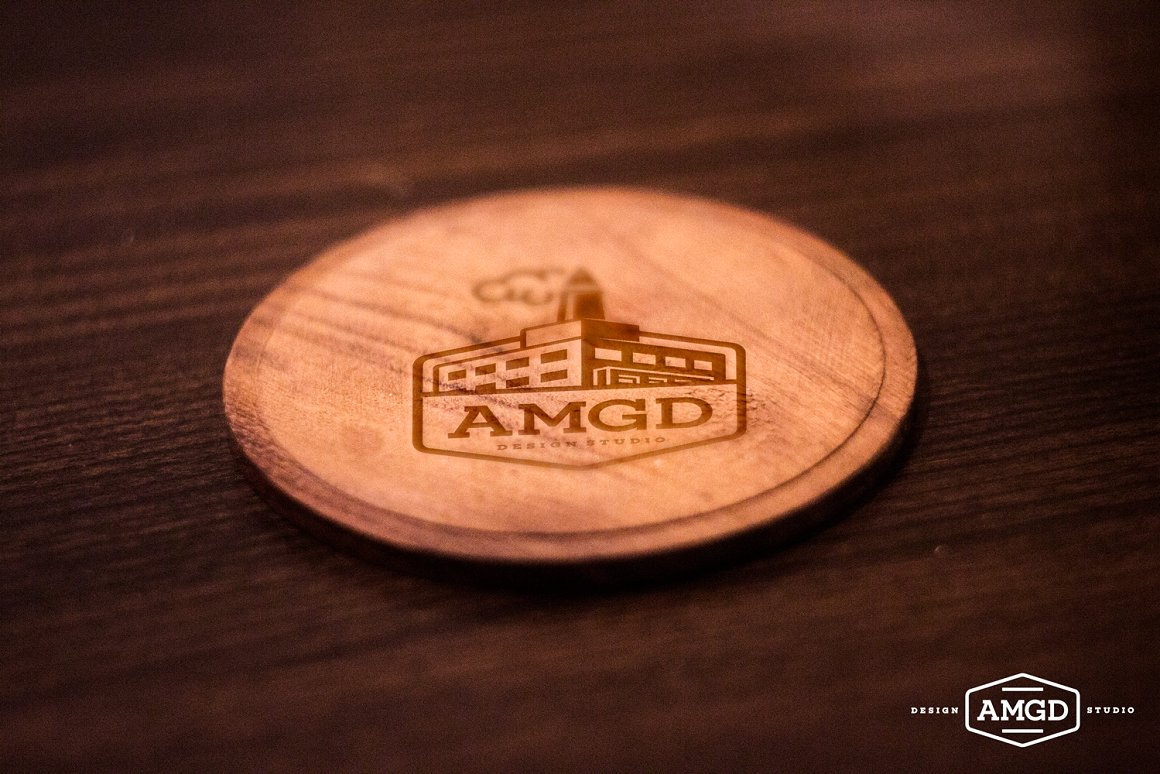 WOOD COASTER MOCK UP