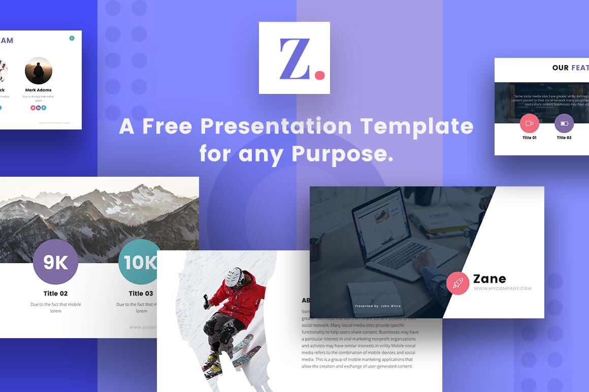 27 free company profile powerpoint templates for presentations zane corporate business profile free powerpoint template wajeb Image collections