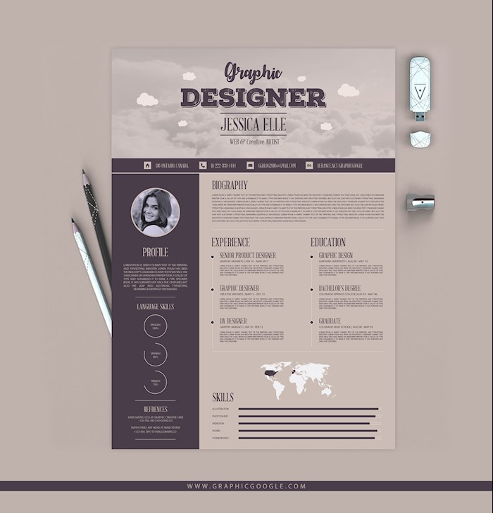 Free-Creative-Vintage-Resume-Design-Template-1