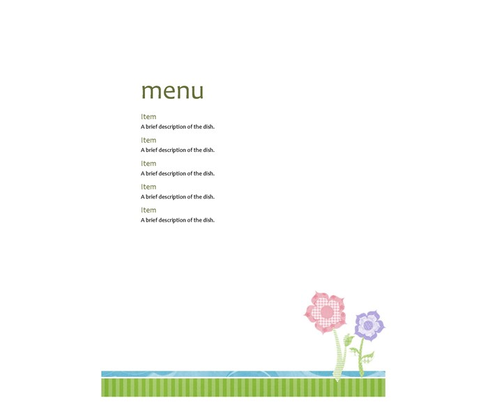 Party-menu-Floral-design