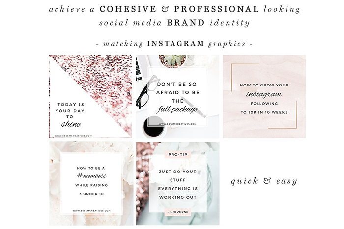 Rose-Gold-Social-Media-Templates