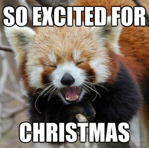 so excited for christmas meme