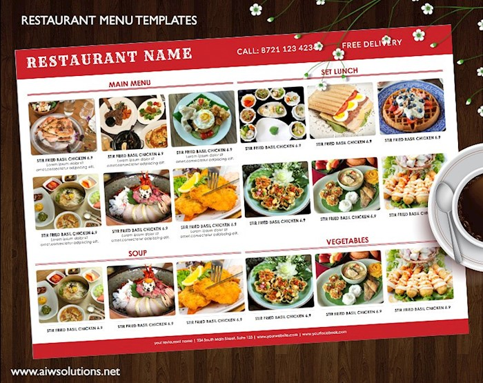 25 free restaurant menu templates for word updated 2018