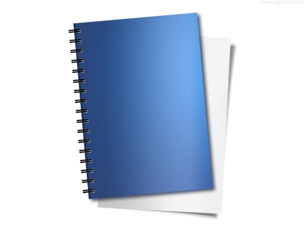 Blue Spiral Notebook PSD
