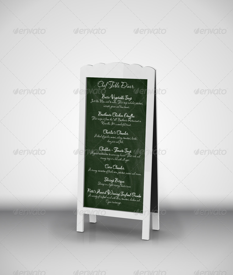 Chef Menu Chalkboards MockUp