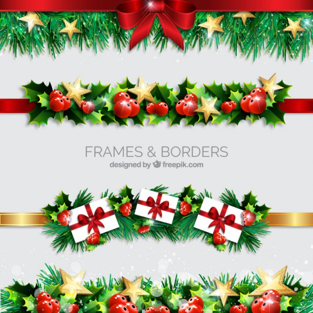 christmas-borders-realistic-style