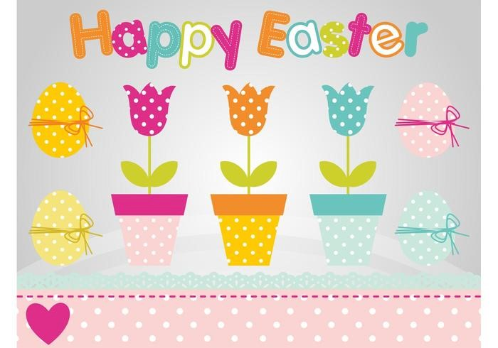colorful-easter-flowers-vector-polka-dot