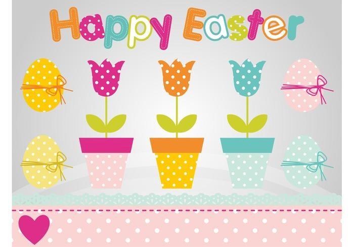 colorful-easter-flowers-vector-polka-dot